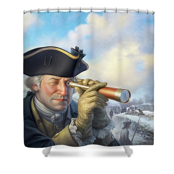 Spymaster George Shower Curtain