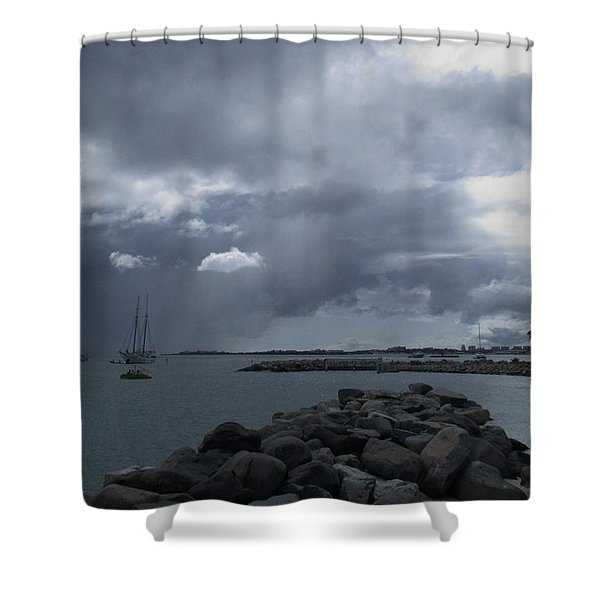 Squall In Simpson Bay St Maarten Shower Curtain