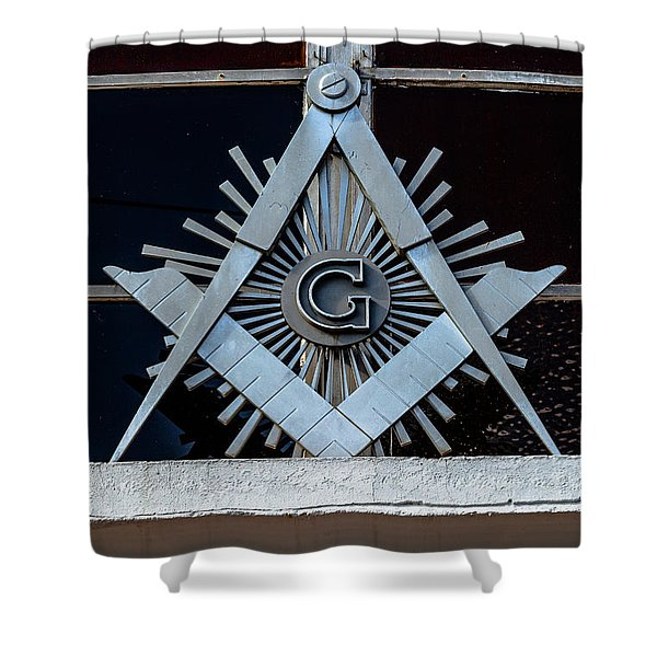 Square And Compass Shower Curtain