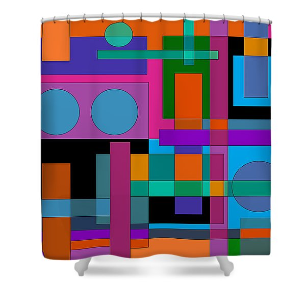Square Pegs Shower Curtain