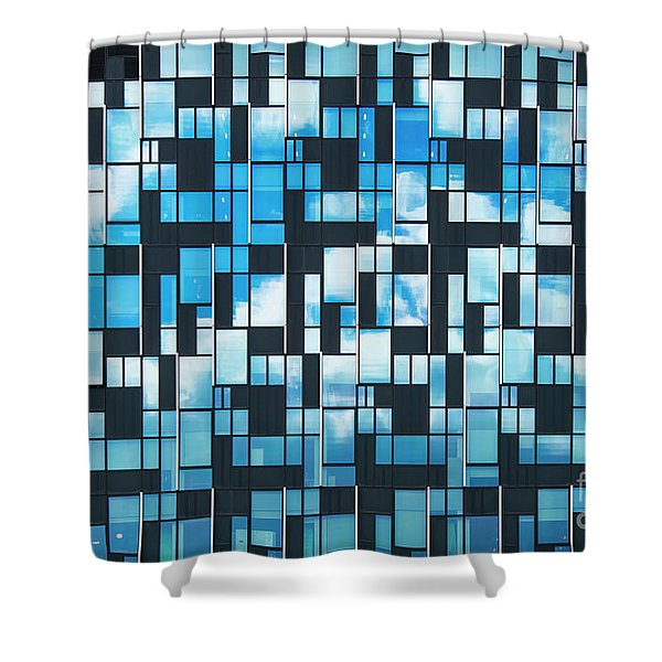 Squaretangle Shower Curtain