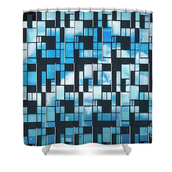 Squaretangle Shower Curtain