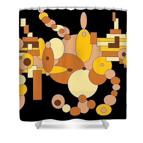 Squiggly Shower Curtain