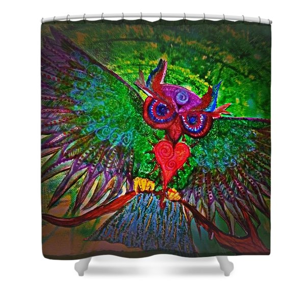 Ss Owl Shower Curtain