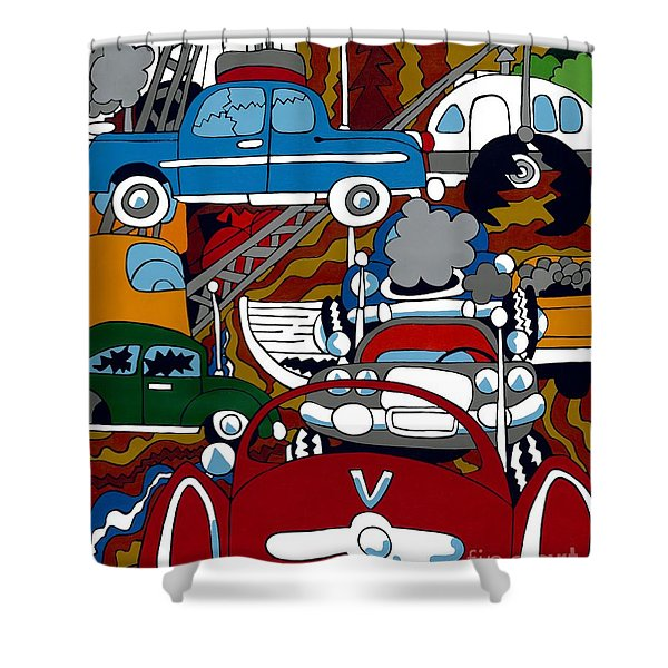 Ss Studebaker Shower Curtain