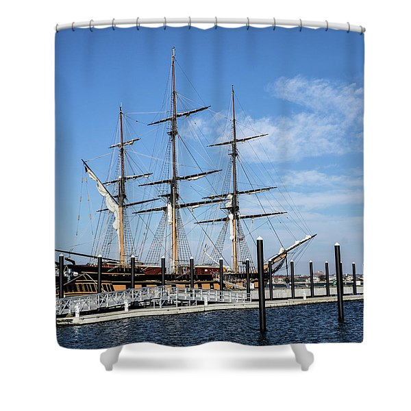 Shower Curtain featuring the photograph Ssv Oliver Hazard Perry by Nancy De Flon