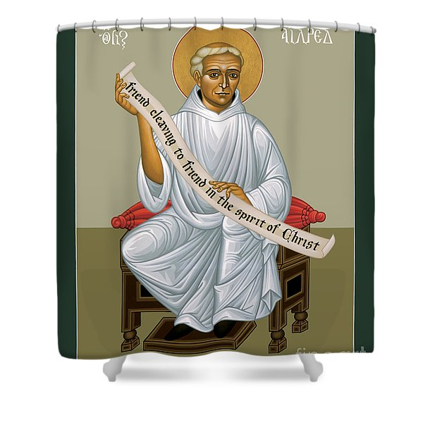 St. Aelred Of Rievaulx - Rlaor Shower Curtain