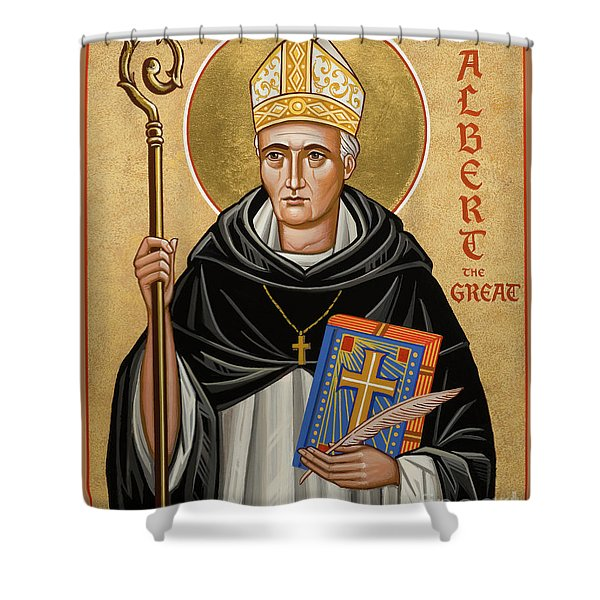 St. Albert The Great - Jcatg Shower Curtain