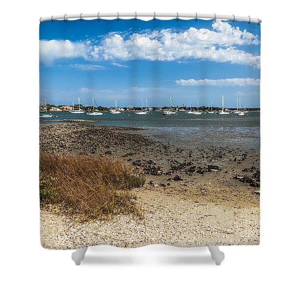 St Augustine Harbor Shower Curtain