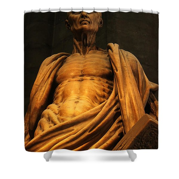 St. Bartholomew In Milan Cathedral By Marco D'agrate Shower Curtain