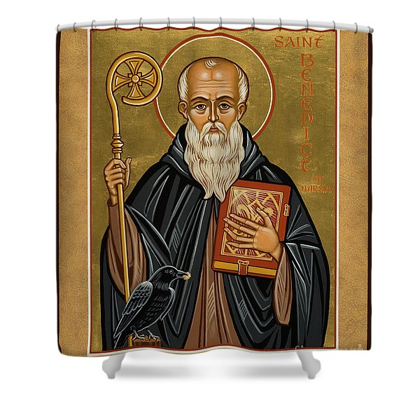 St. Benedict Of Nursia - Jcbnn Shower Curtain