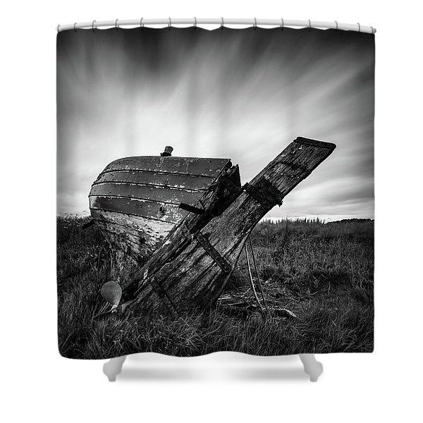 St Cyrus Wreck Shower Curtain