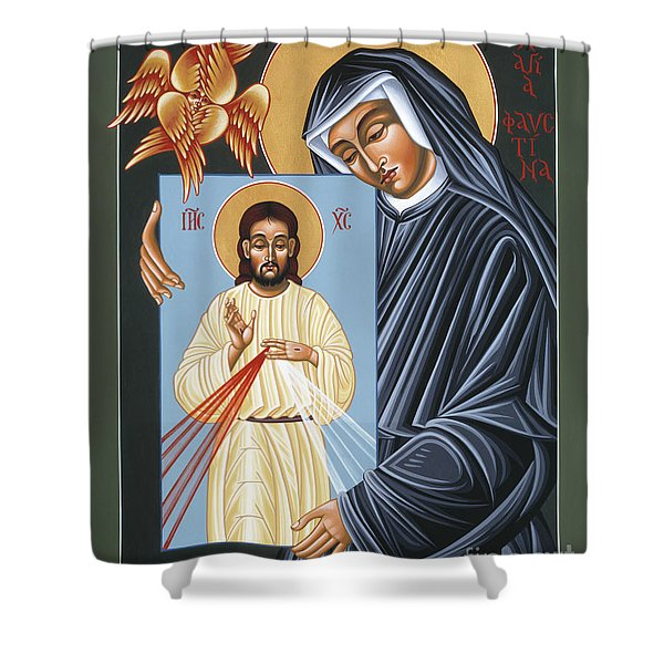 St Faustina Kowalska Apostle Of Divine Mercy 094 Shower Curtain