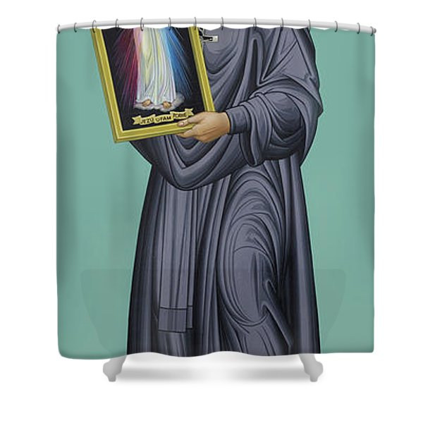 St. Faustina Kowalska - Rlfak Shower Curtain