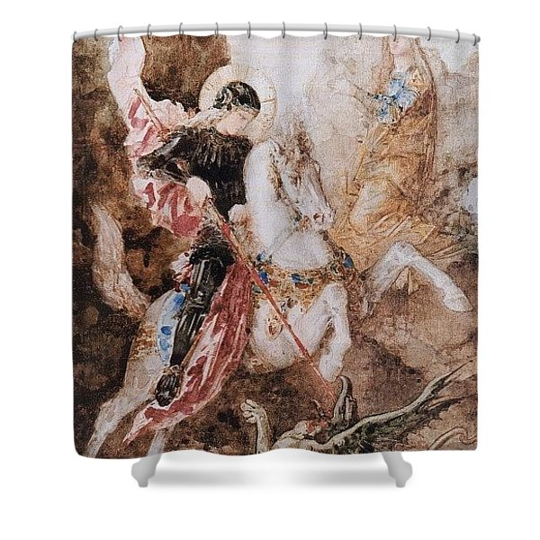 St George 1869 Gustave Moreau Shower Curtain