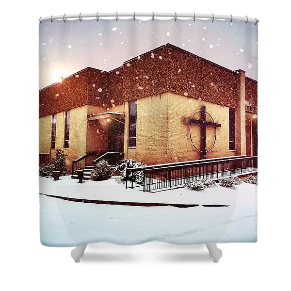 St. Isaac Jogues In The Snow Shower Curtain