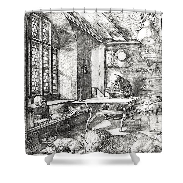 St Jerome In His Study Shower Curtain