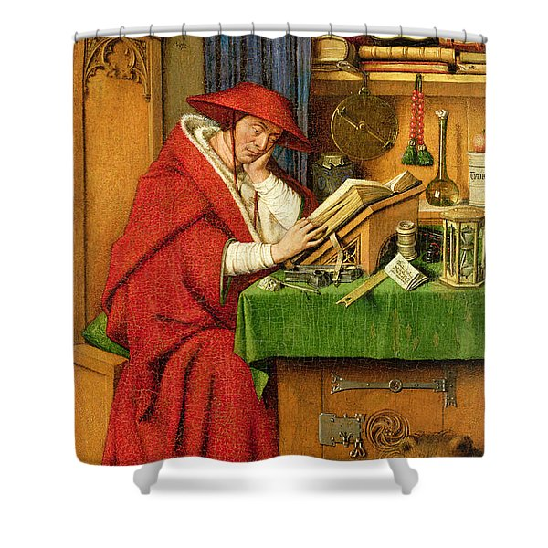 St. Jerome In His Study  Shower Curtain