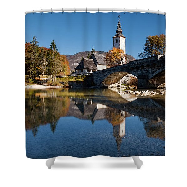 St. John The Baptist On The Lake Bohinj Shower Curtain