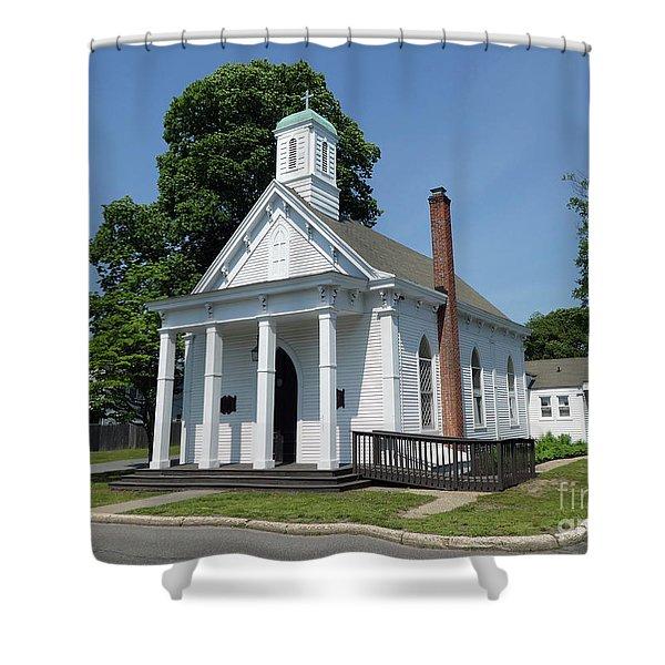 St Johns Ev Lutheran Church  Shower Curtain