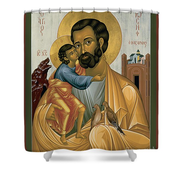 St. Joseph Of Nazareth - Rljnz Shower Curtain