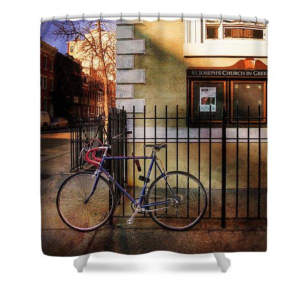 St. Joseph's Church Bicycle Shower Curtain