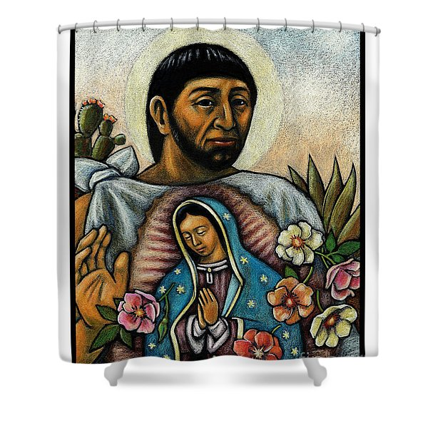 St. Juan Diego And The Virgins Image - Jljdv Shower Curtain