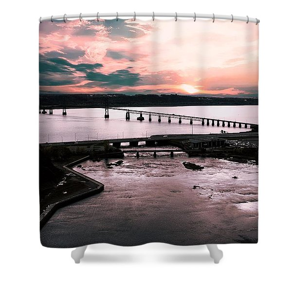 St. Lawrence Sunset Shower Curtain