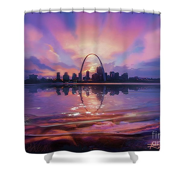 St. Louis - Blues And A Whole Lot More Shower Curtain