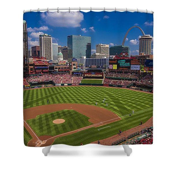 St. Louis Cardinals Busch Stadium Creative 16 Shower Curtain
