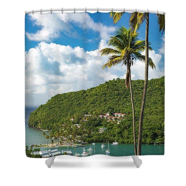 St Lucia - Marigot Bay II Shower Curtain