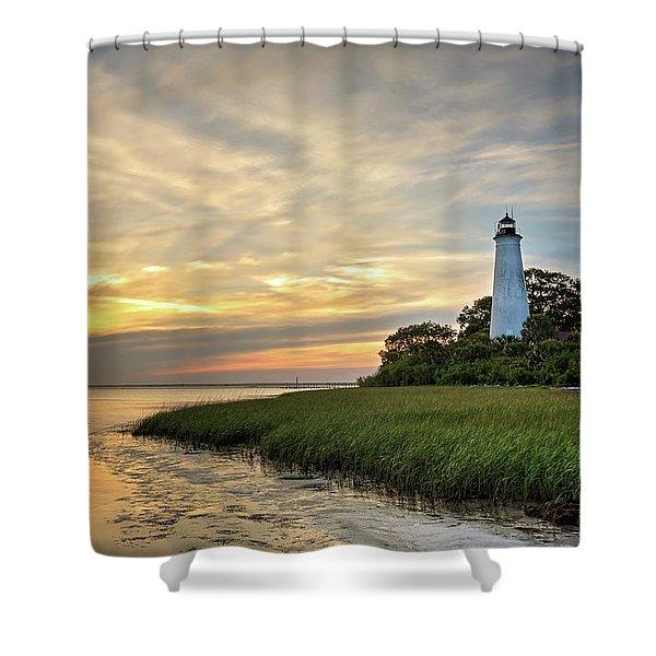 St. Mark's Lighthouse Shower Curtain