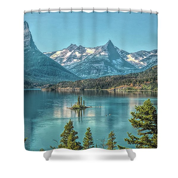 St Mary Lake Shower Curtain