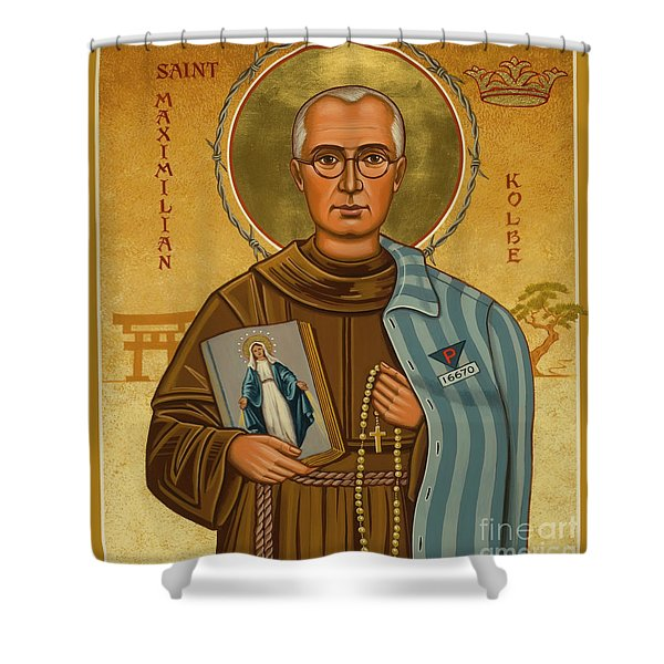 St. Maximilian Kolbe - Jckol Shower Curtain