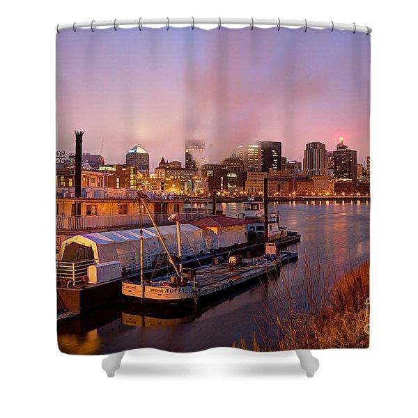 St Paul Minnesota Its A River Town Shower Curtain