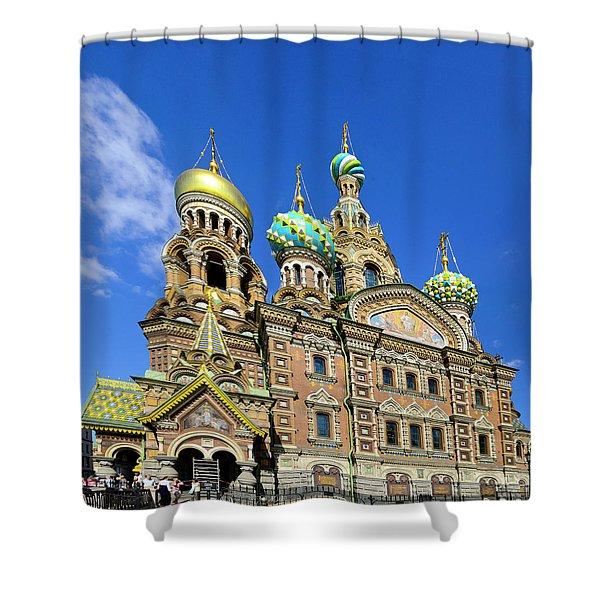 St. Petersburg Church Of The Spilt Blood Shower Curtain