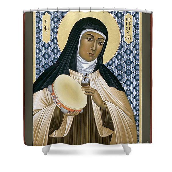 St. Teresa Of Avila - Rltoa Shower Curtain