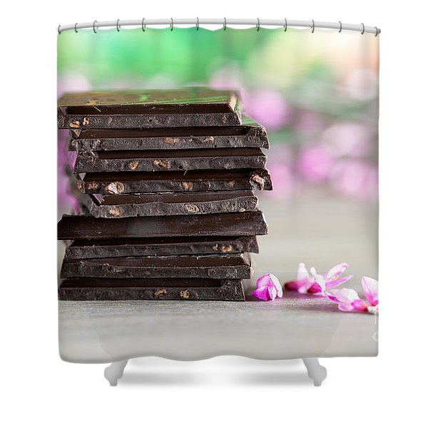 Stack Of Chocolate Shower Curtain