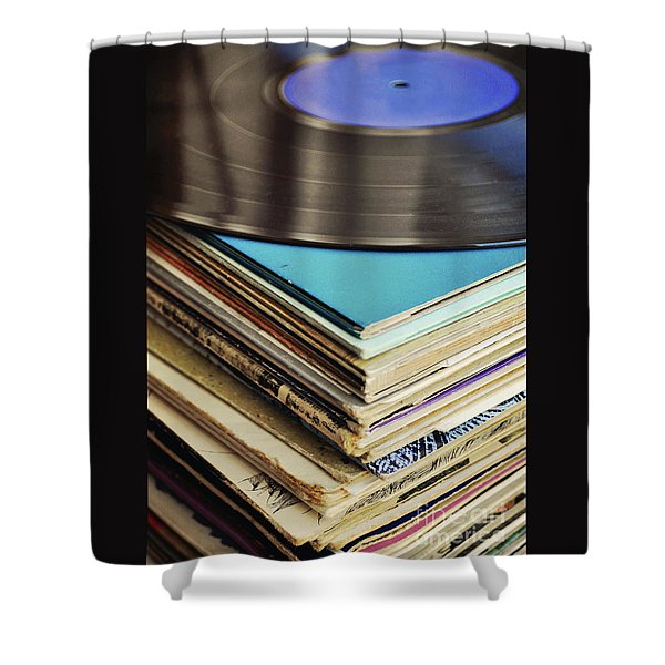 Stack Of Records Shower Curtain