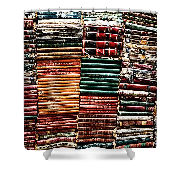 Stacks Of Books Shower Curtain