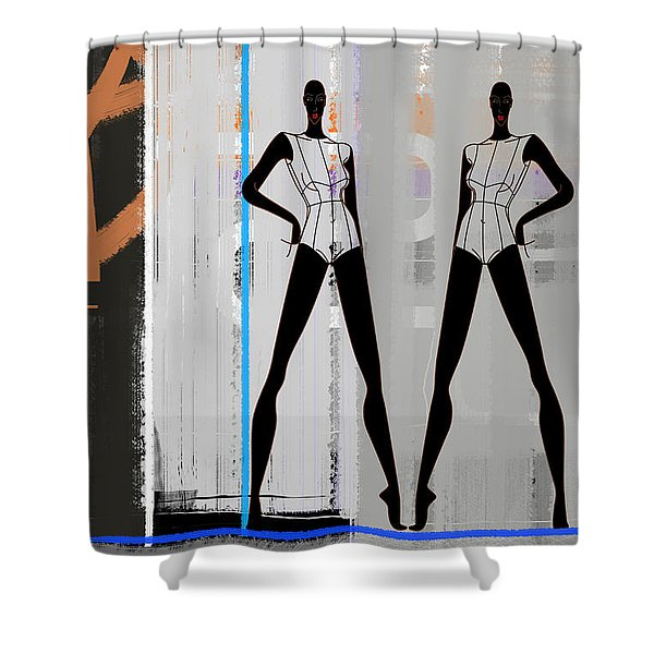 Stage Space Shower Curtain