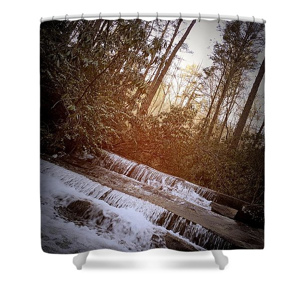 Stair Step Falls Table Rock South Carolina Shower Curtain