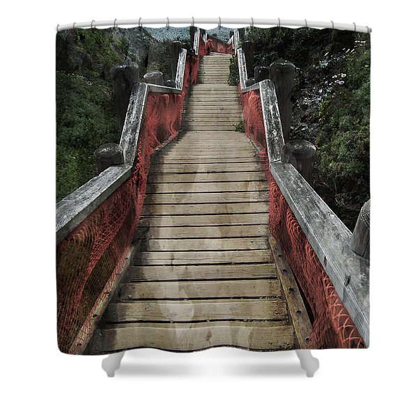 Stairs To Bliss Shower Curtain