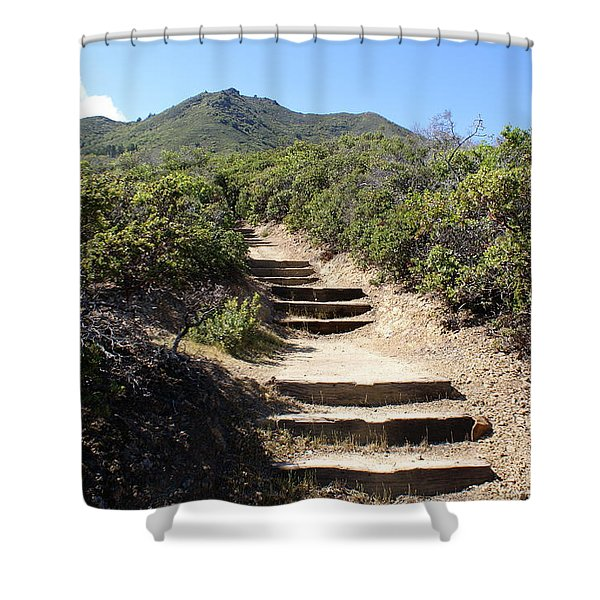 Stairway To Heaven On Mt Tamalpais Shower Curtain