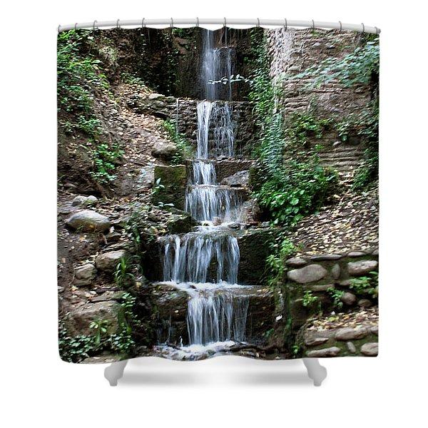 Stairway Waterfall Shower Curtain