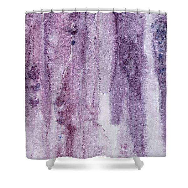 Stalks Of Lavender Shower Curtain