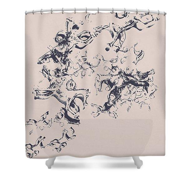 Stallions Inc. Shower Curtain