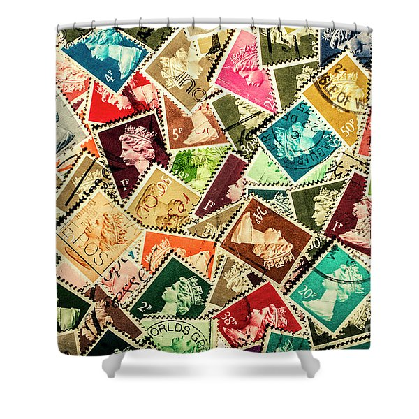Stamping The Royal Mail Shower Curtain