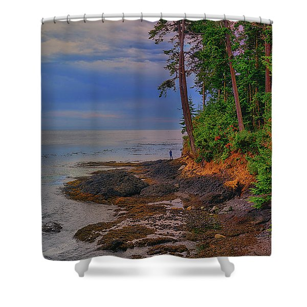 Standing By The Sea Shower Curtain