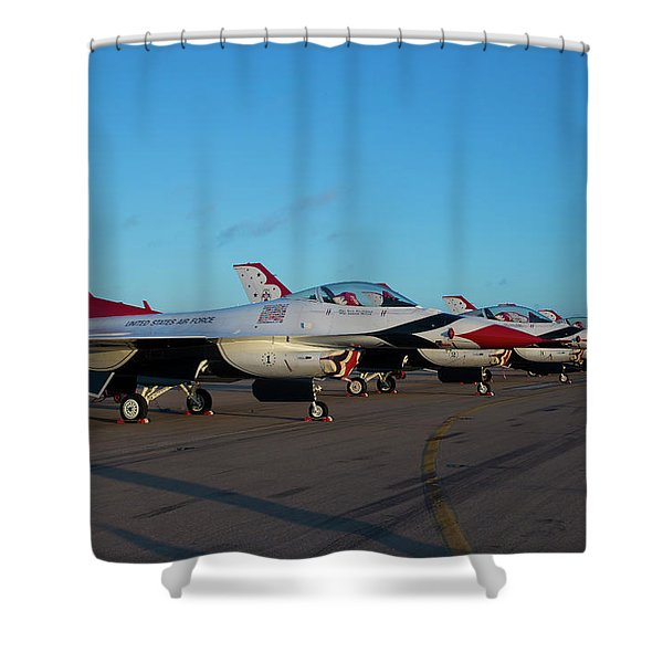 Standing In Formation Shower Curtain